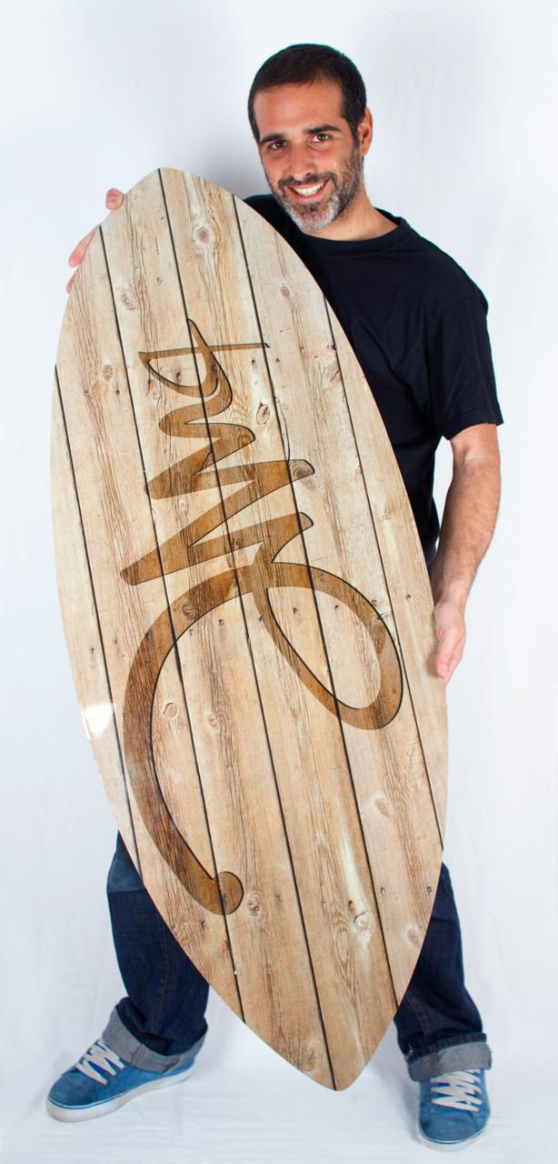 Skimboard Custom avec bottom imprimé
