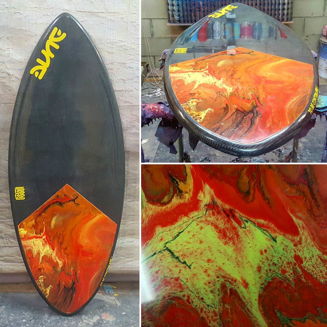 Skimboard Custom with resin tint